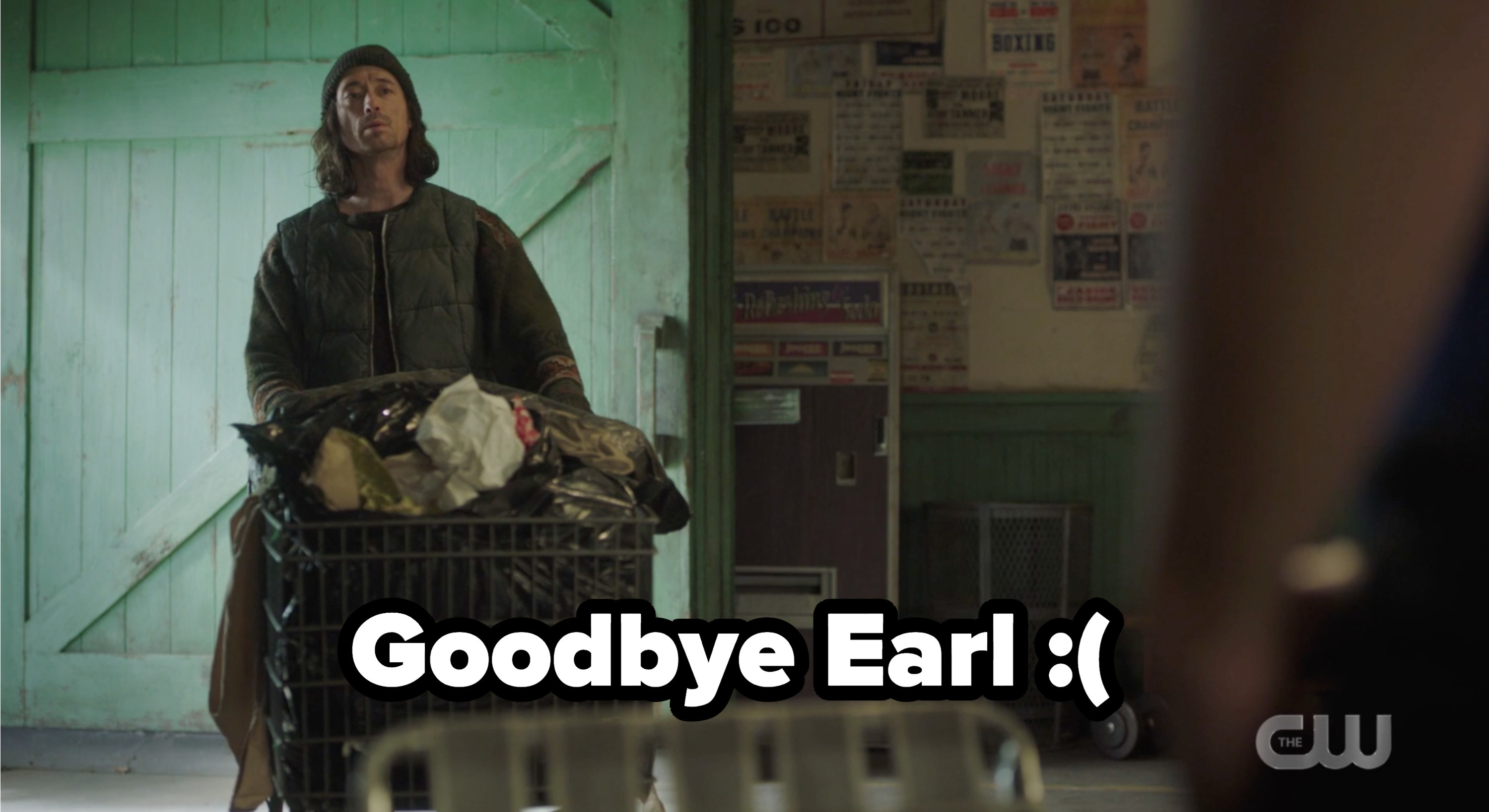Earl with a message of Goodbye Earl