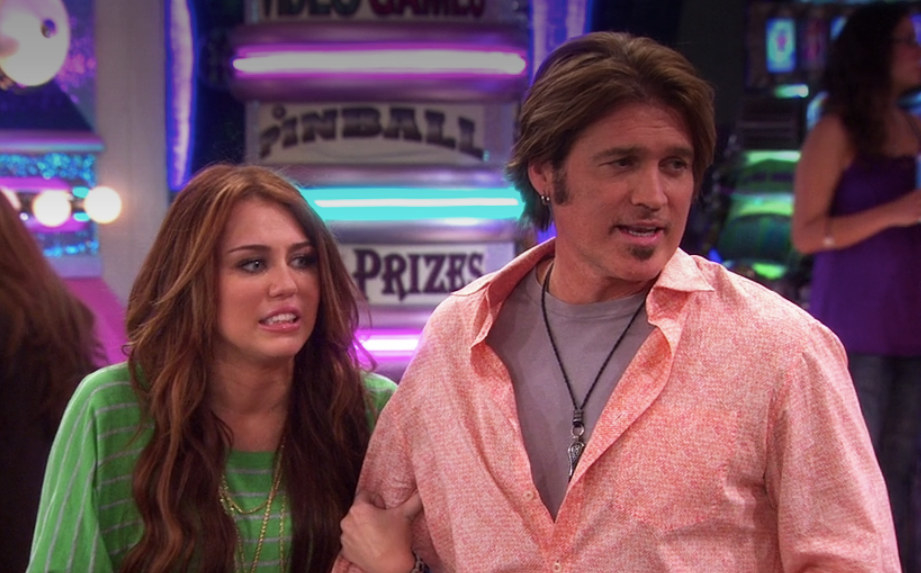 Miley and her father scared a lot of time onscreen