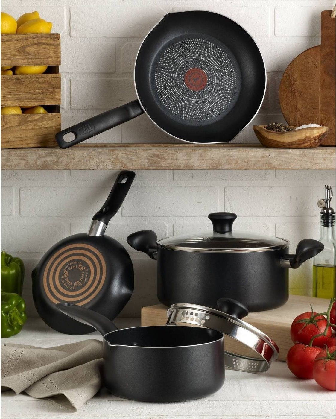 The set of pots and pans