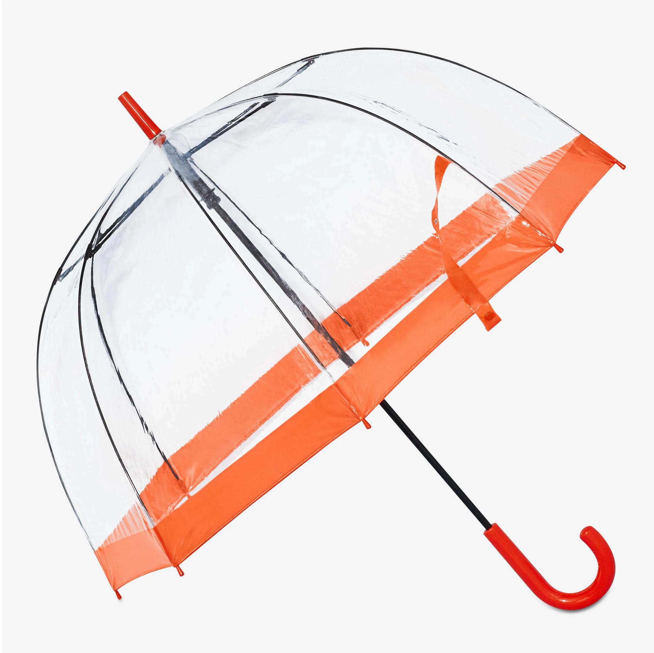 A large umbrella on a plain background