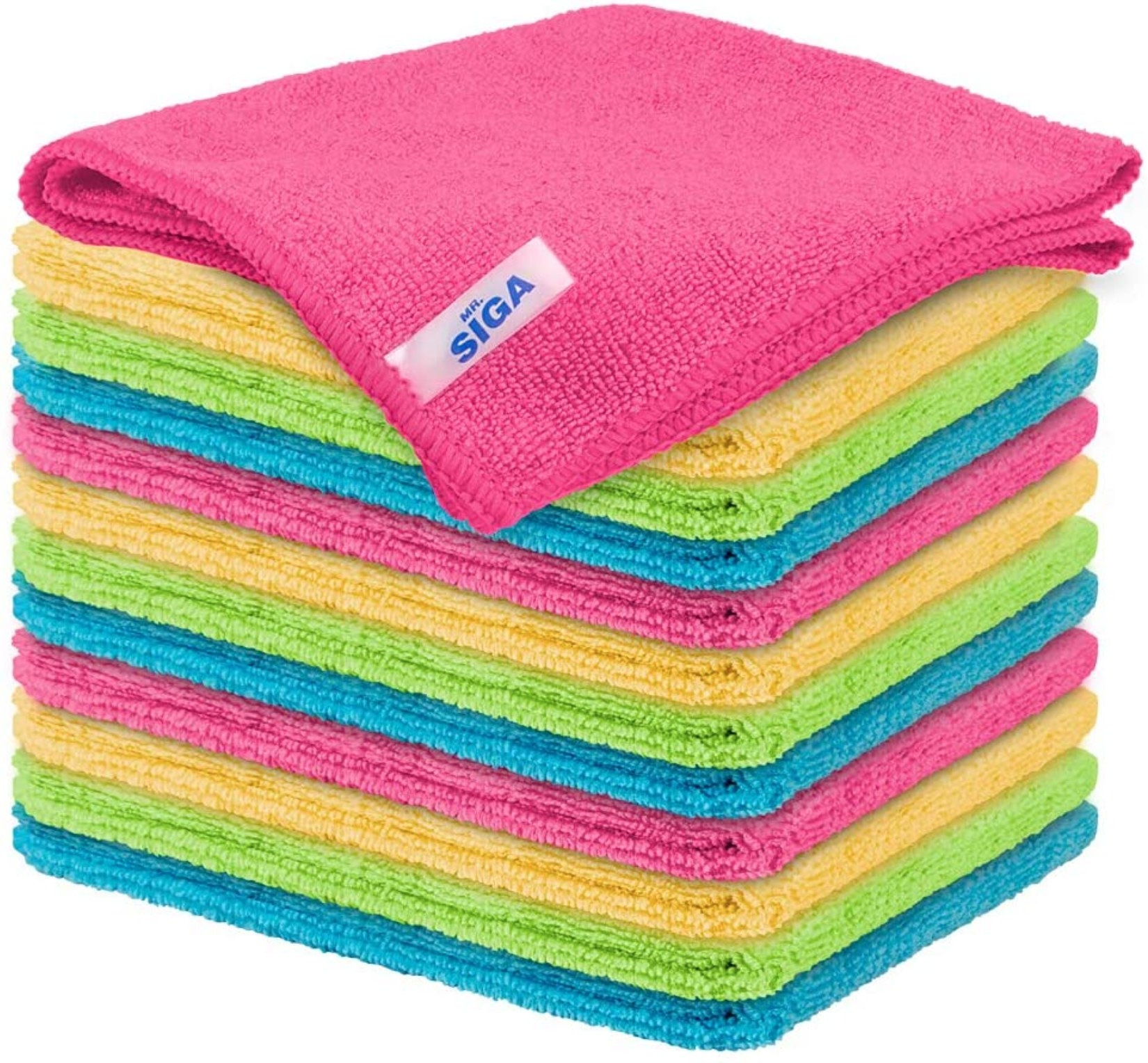 The set of multicolored towels