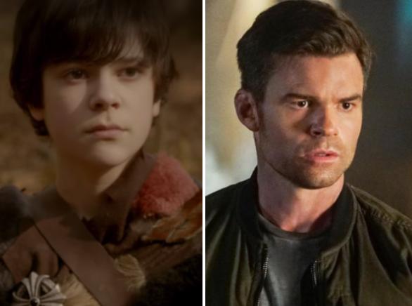 young Elijah alongside adult Elijah