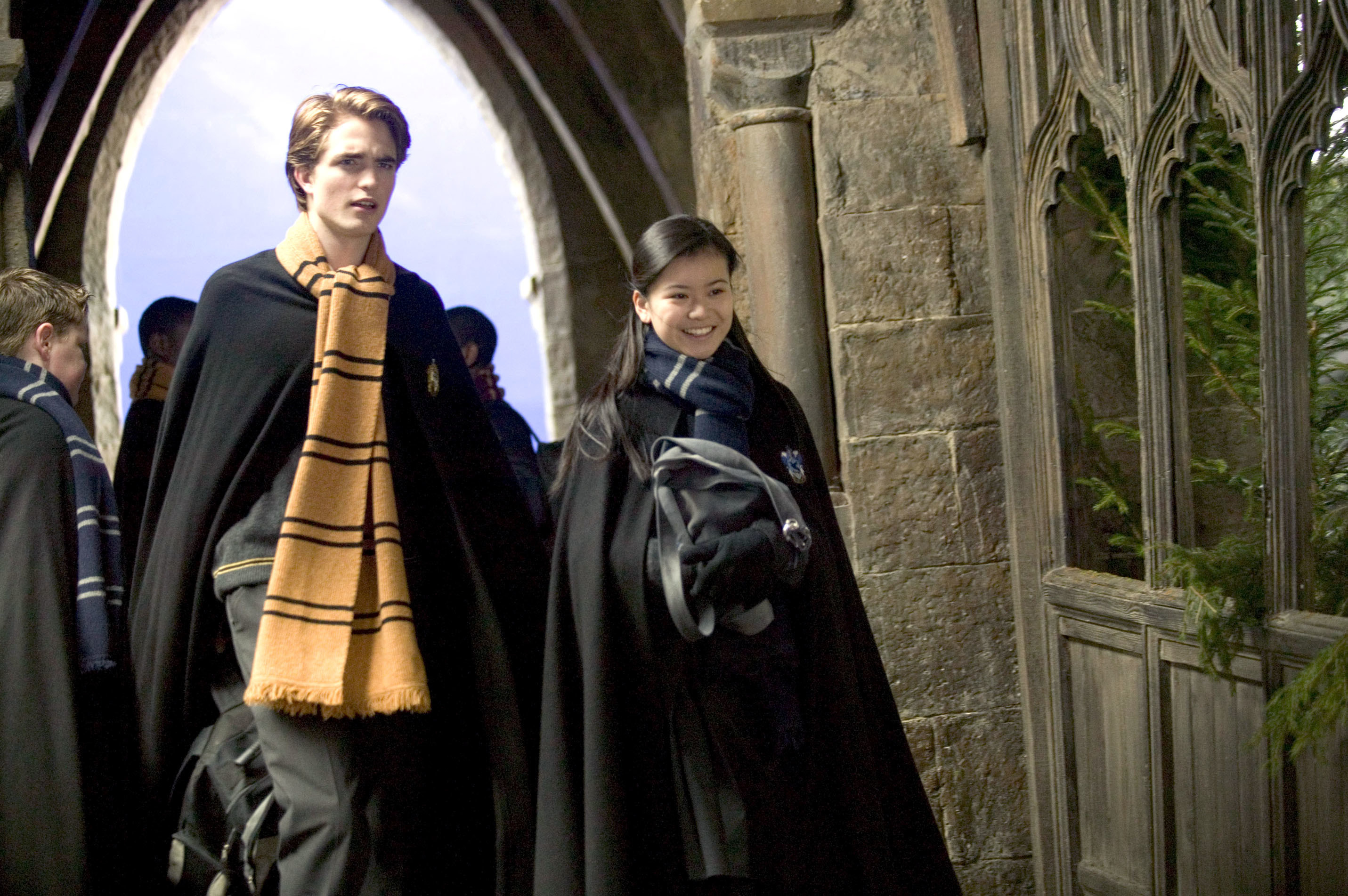 Robert Pattinson and Katie Leung in Harry Potter and the Goblet of Fire