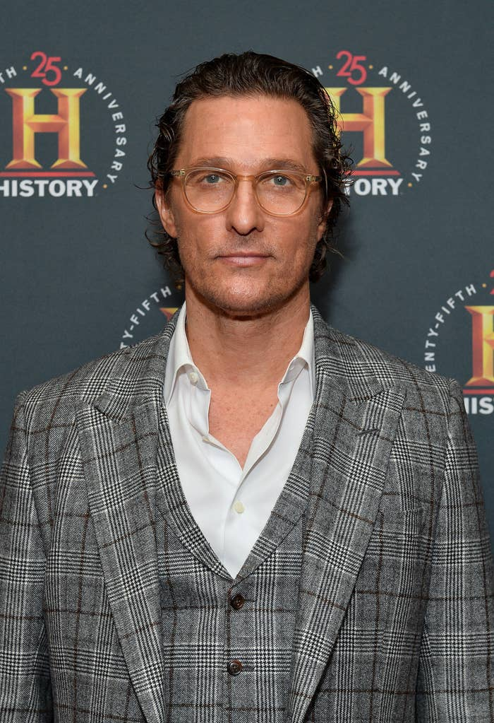 Matthew McConaughey at a History Talks event at Carnegie Hall in February 2020