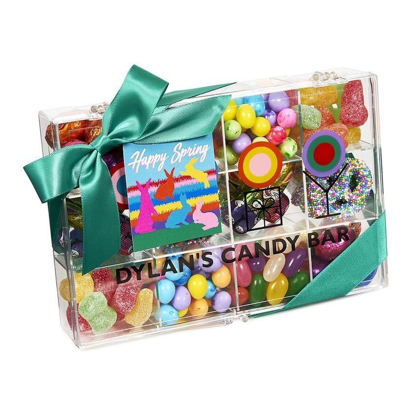 tackle box of spring-theme candy