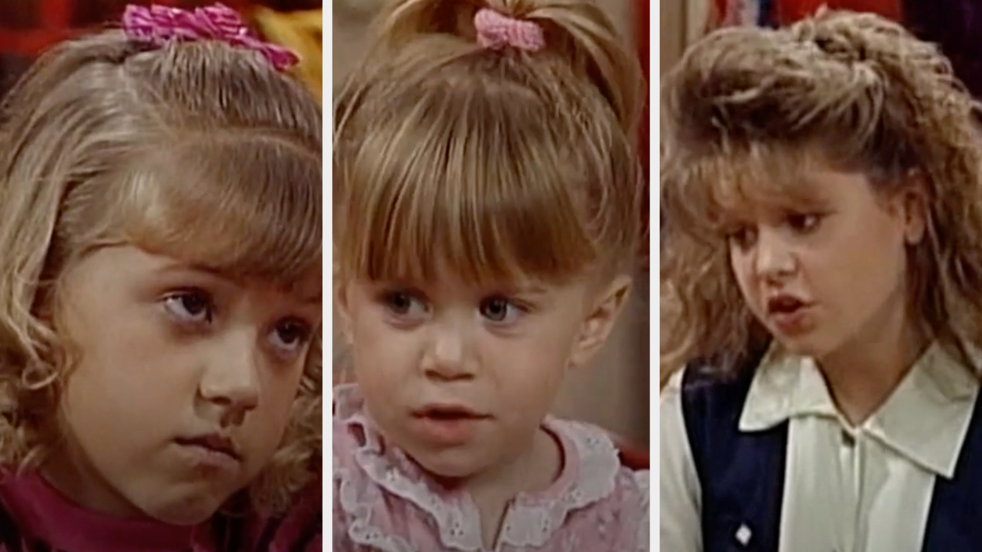 DJ, Michelle, and Stephanie in Full House