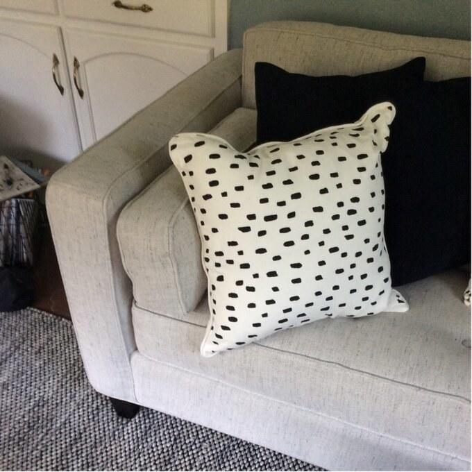 The Dalmatian print pillow
