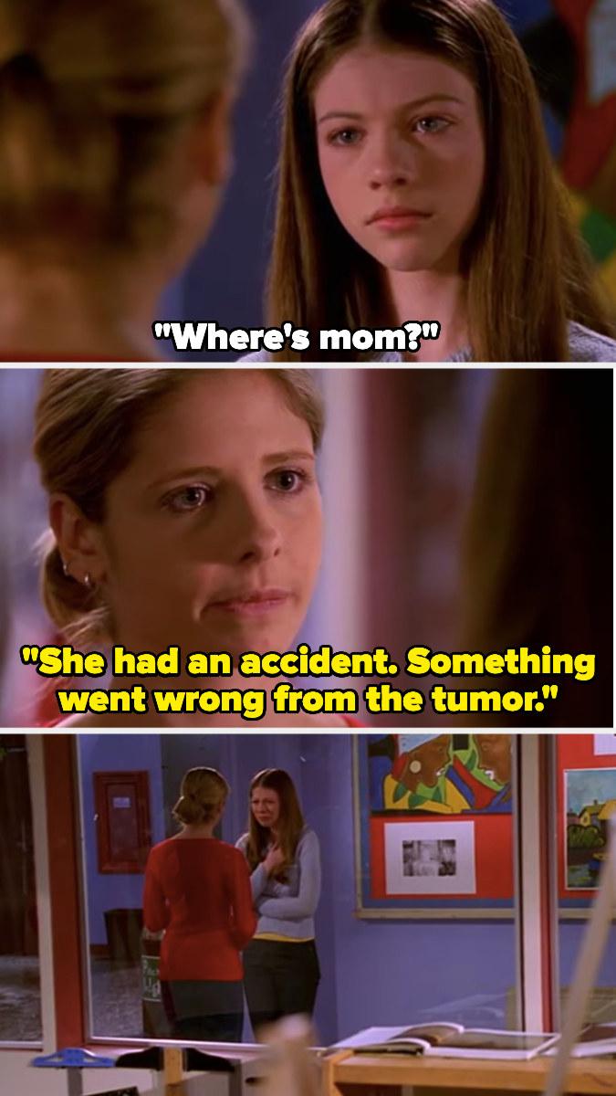 "Buffy tells Dawn that Joyce has died in ""Buffy the Vampire Slayer"""
