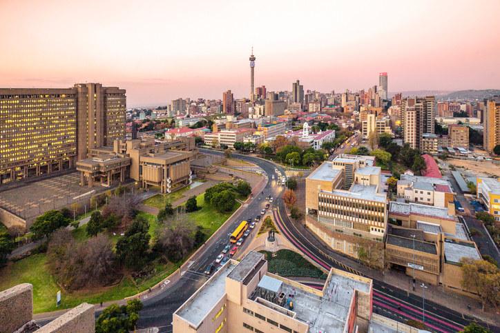Modern cityscape of Johannesburg