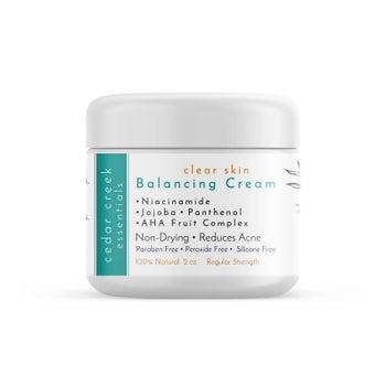 Bottle of CedarCreekEssentials Clear Skin Balancing Cream