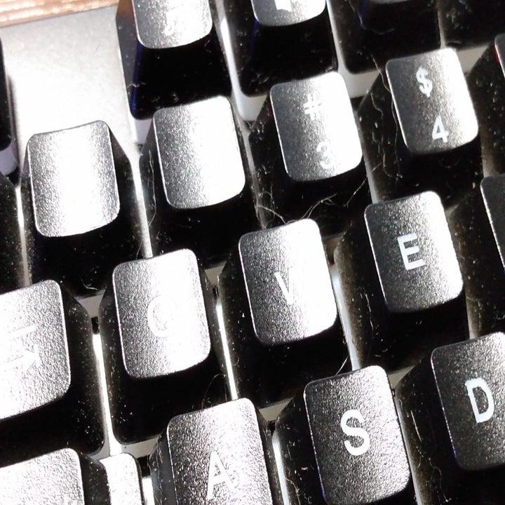 Before: a dirty, dusty keyboard