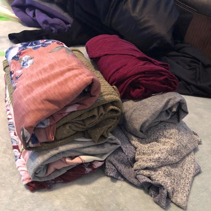 Before: a pile of clothes