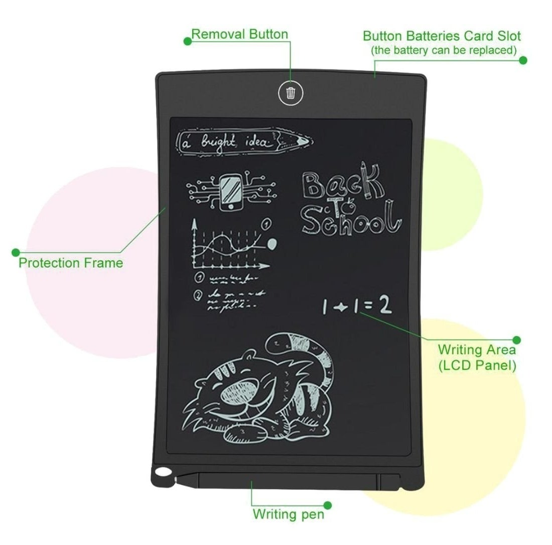 Image showing the various features of the tablet, such as the pen slot anf the removal button.