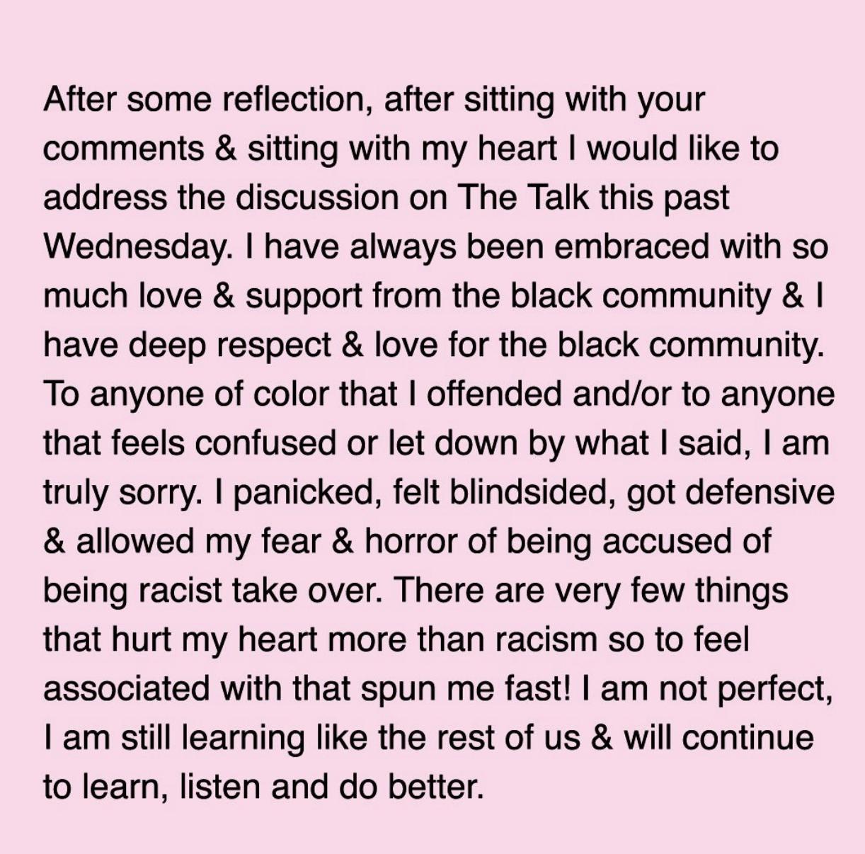 Sharon apology