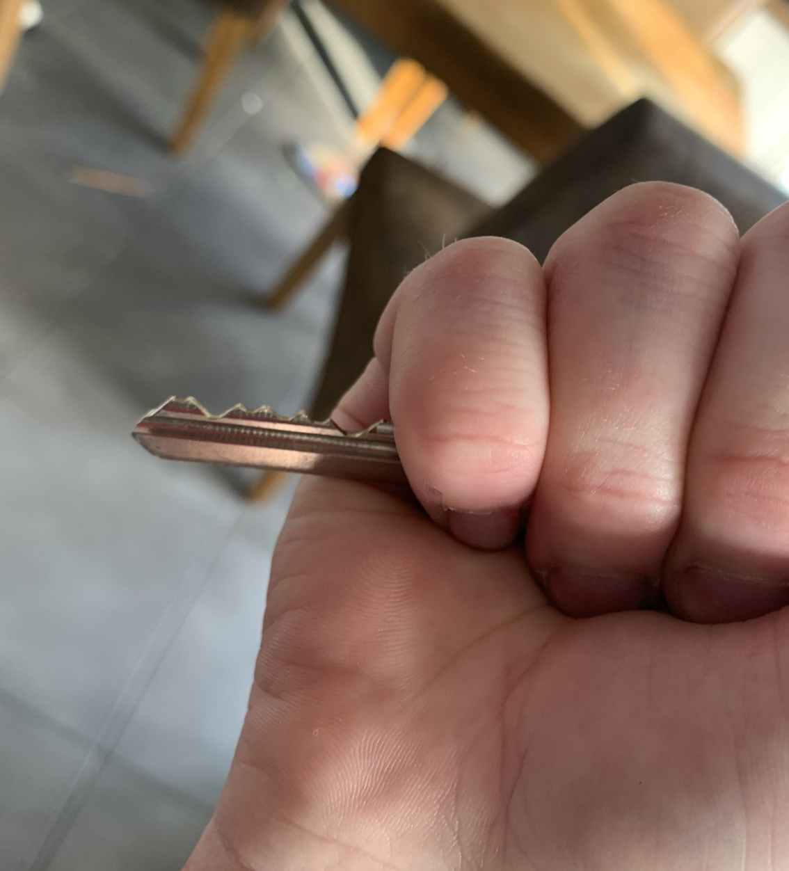A hands holding a key