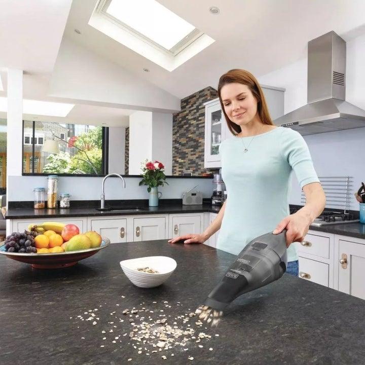 Gray wireless handheld vacuum