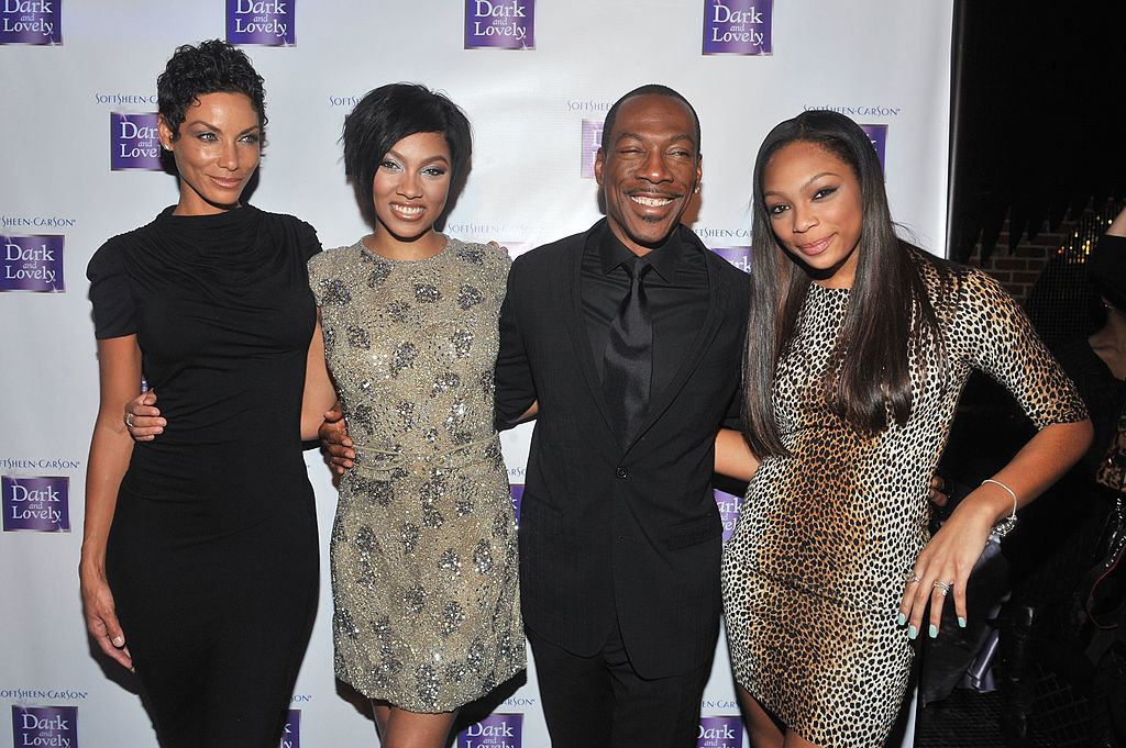 Model Nicole Murphy, model Bria Murphy, Eddie Murphy, and Shayne Murphy attend a Dark and Lovely event