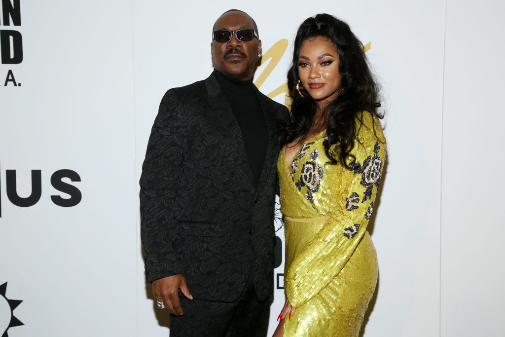 Eddie Murphy and Bria Murphy attend the Eddie Murphy X ARTUS Gallery Exhibition Opening Night at East Angel Gallery on Feb. 20, 2020, in Los Angeles