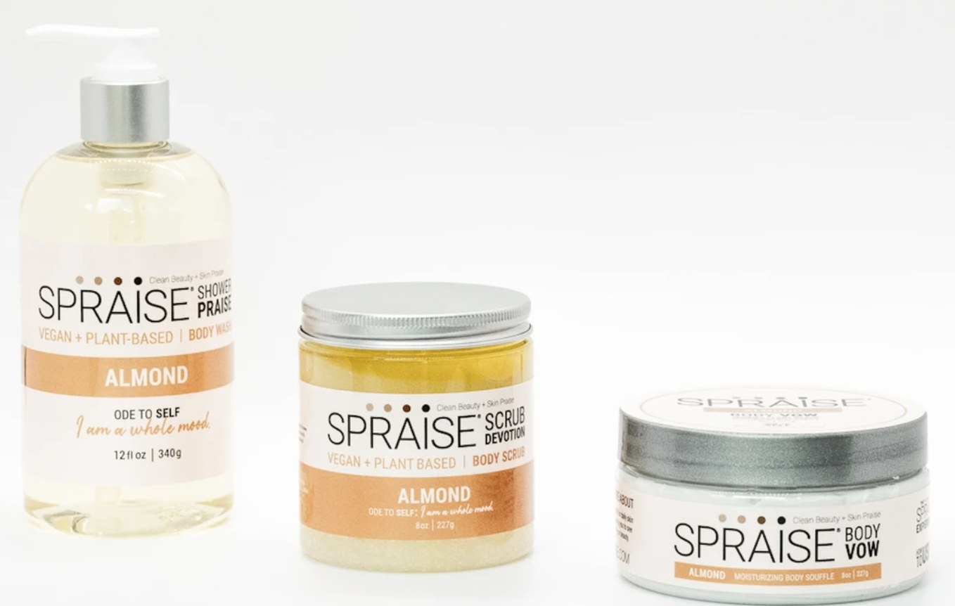 Spraise Body Care products