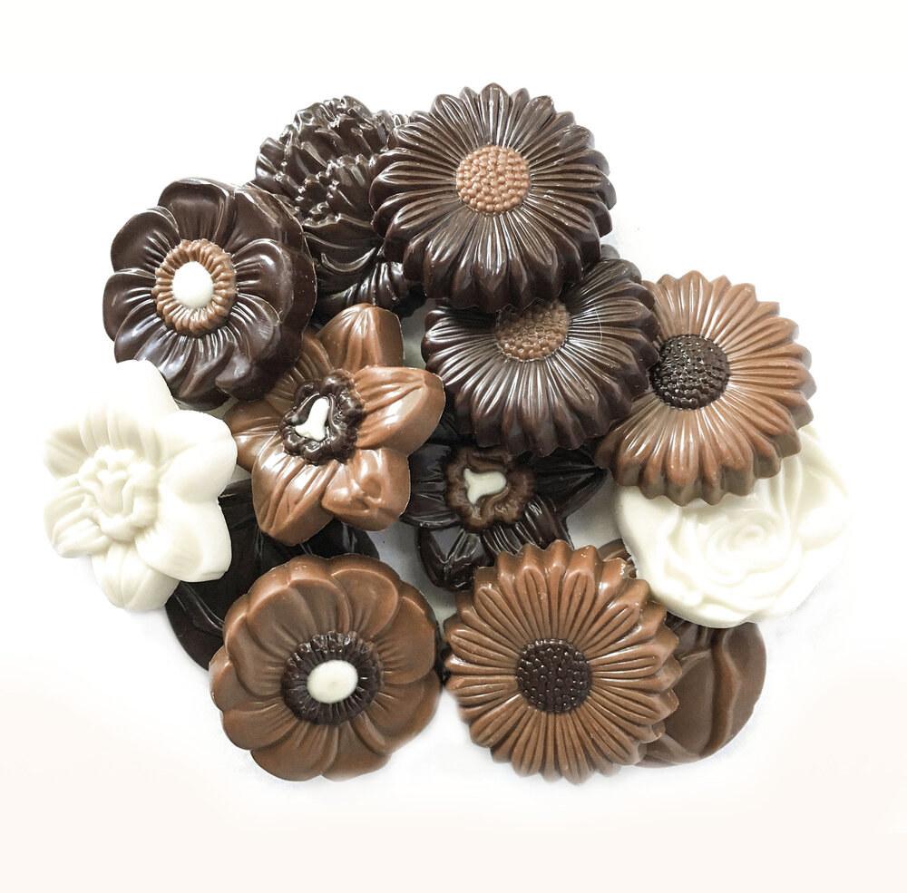 Tasty chocolate flowers.