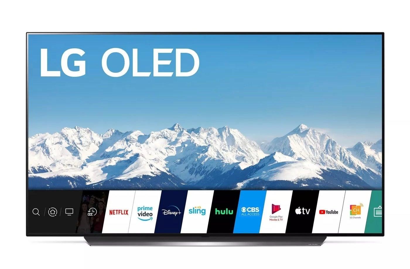The LG OLED smart TV