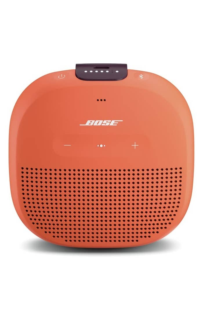 Orange Bose speaker