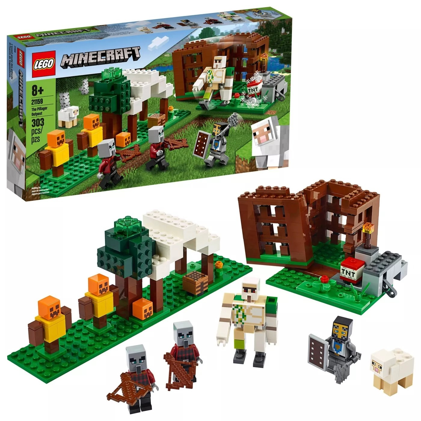 The 303-piece building set for ages 8 and up