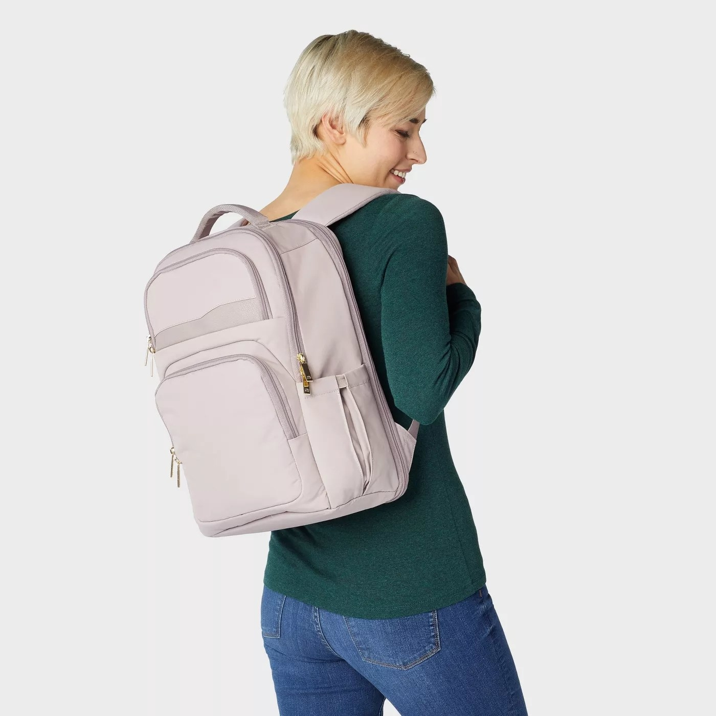 The pink backpack