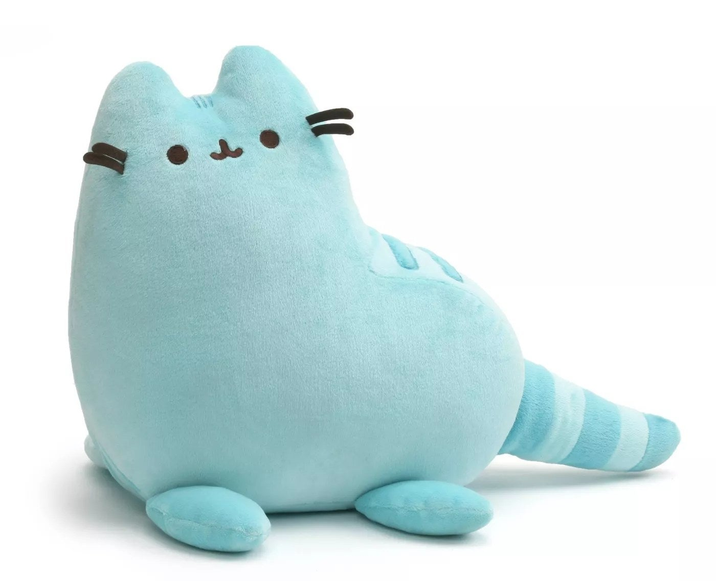The blue cat plush toy