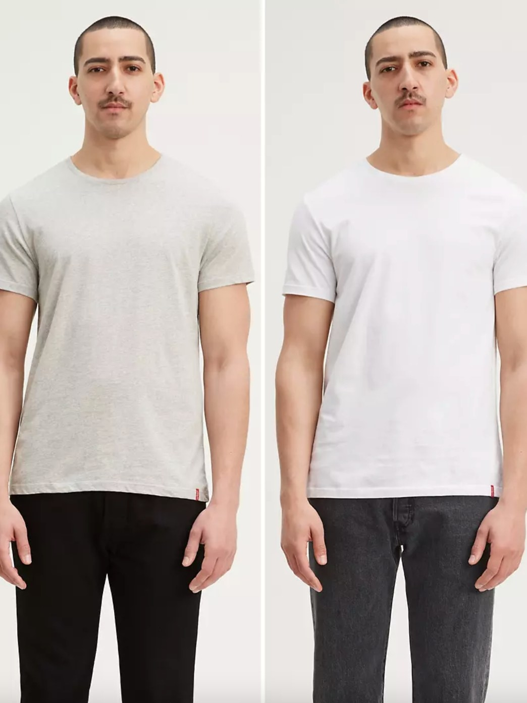 The two-pack of slim fit crewneck tees