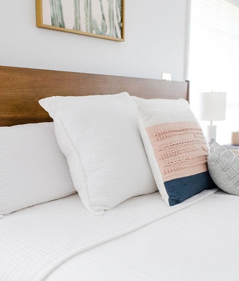 the white pillow shams