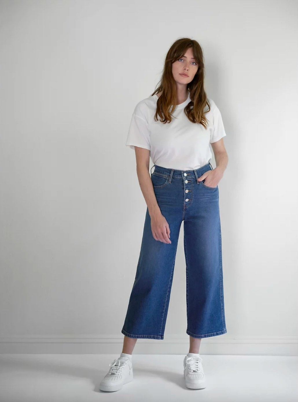 The wide-leg jeans in Sun Devil Heat - Dark Wash