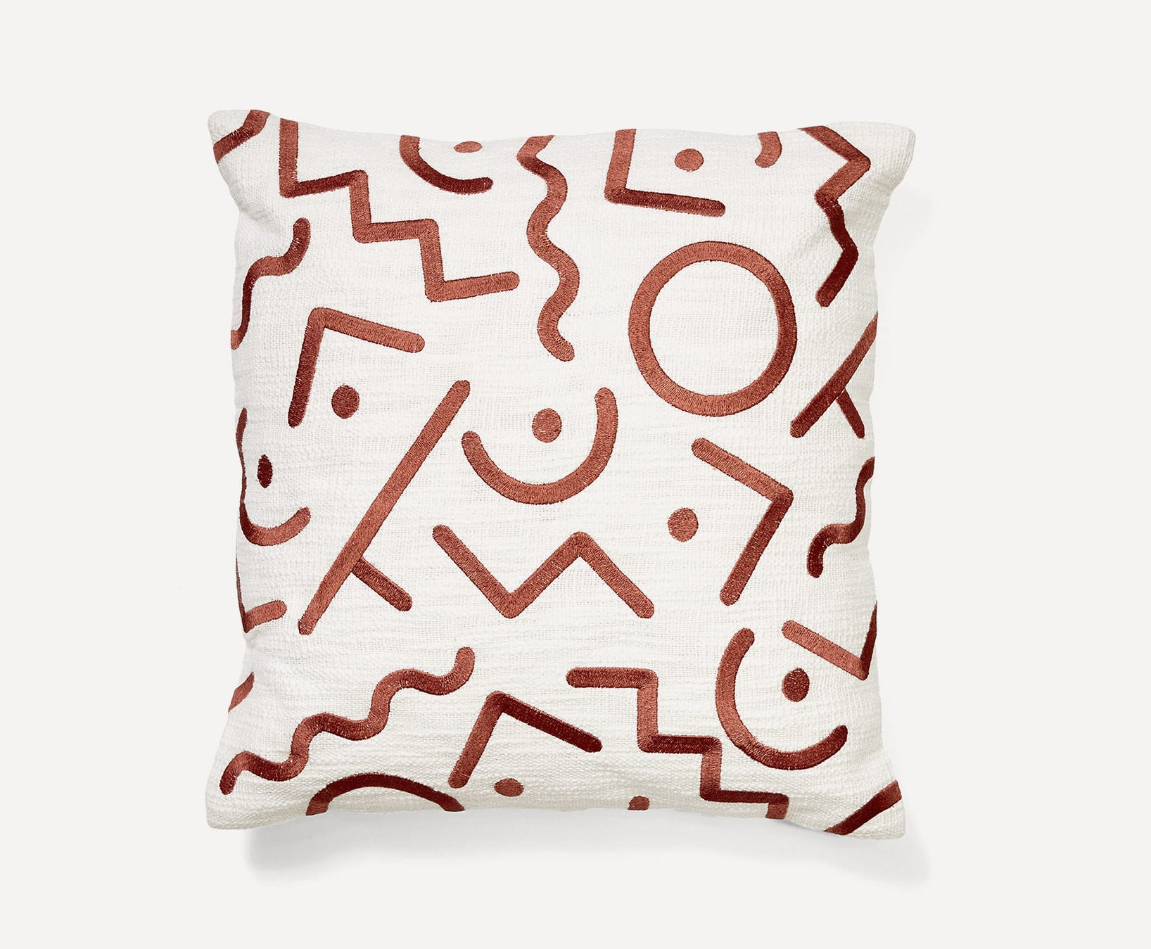 the cream and red pillow cover