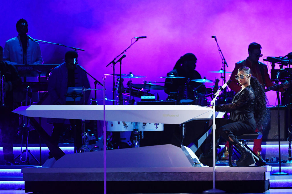 H.E.R. performs onstage during the 62nd Annual GRAMMY Awards