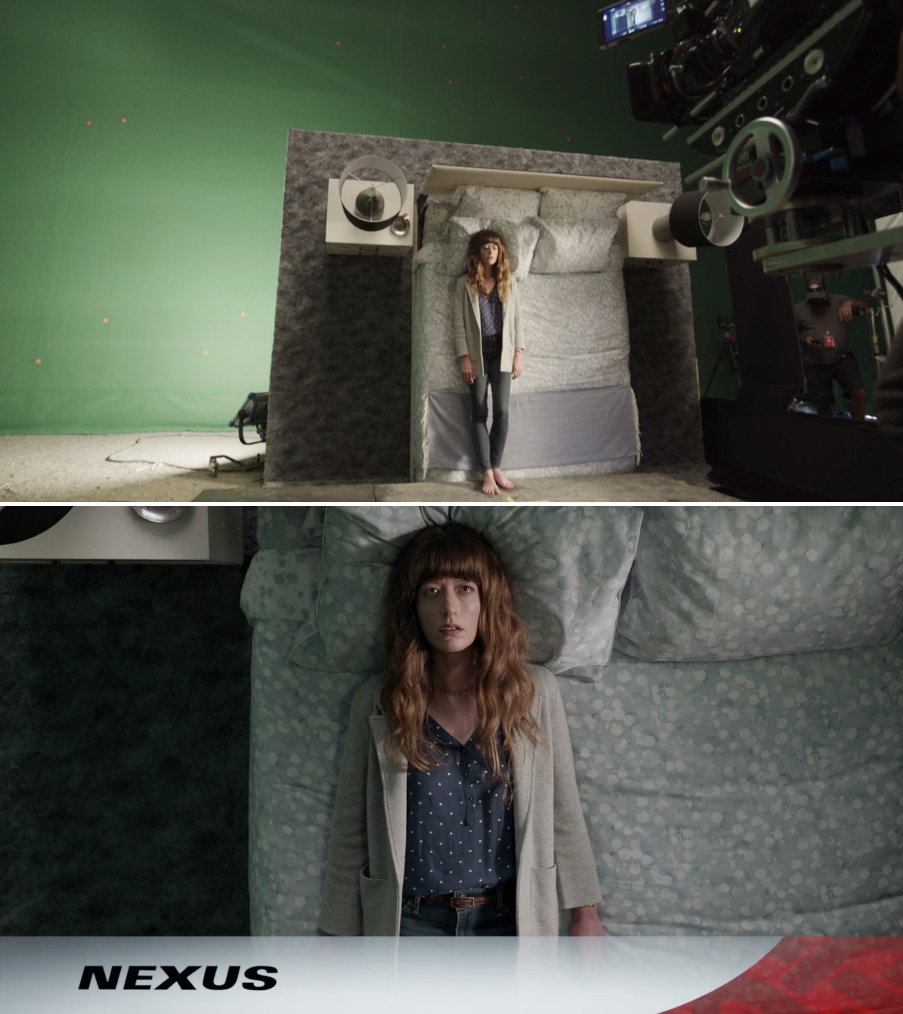 A woman lying in bed during the Nexus commerical