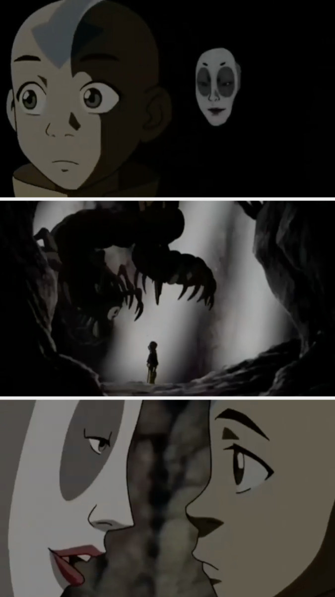 """Koh talking with Aang from """"Avatar: The Last Airbender"""""""