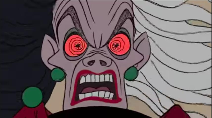 """Cruella Deville from """"101 Dalmations"""""""