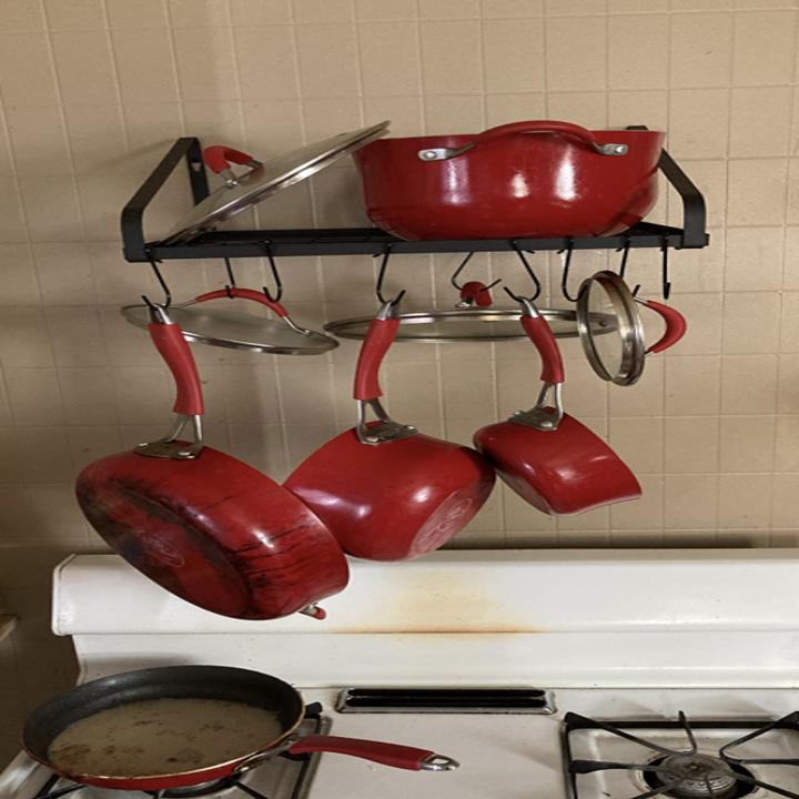 reviewer image of hanging pot rack