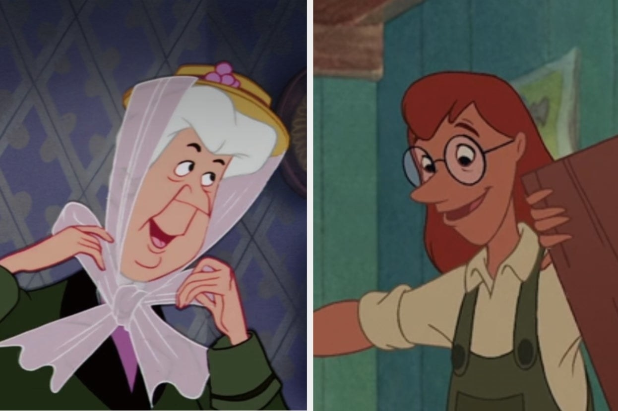 """Aunt Sarah from """"The Lady and the Tramp"""" and the pet place worker from """"Lilo and Stitch"""""""