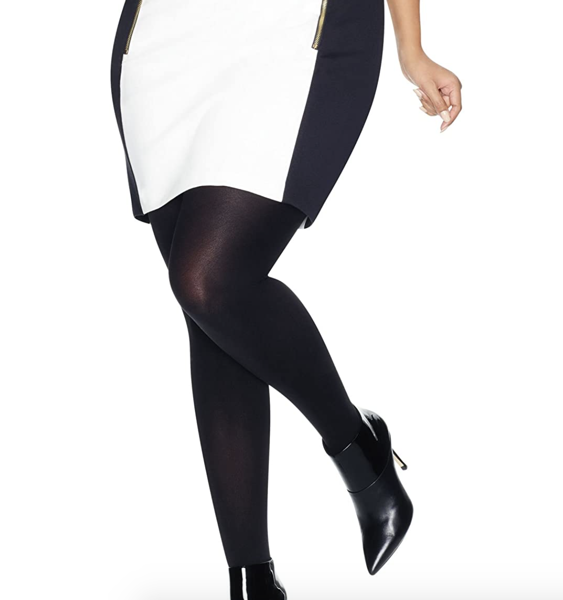 the black tights on a model