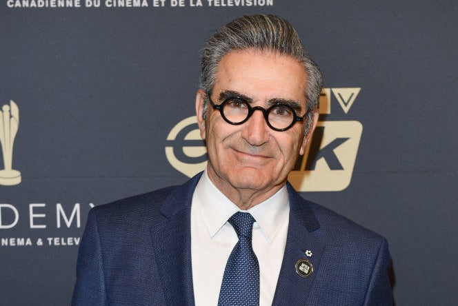 Eugene Levy on a red carpet