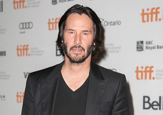 Keanu Reeves on the red carpet for the Toronto International Film Festival