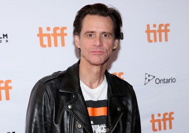 Jim Carrey on the red carpet for the Toronto International Film Festival