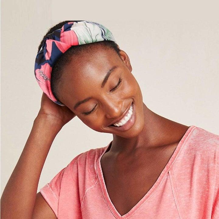 model wearing headband
