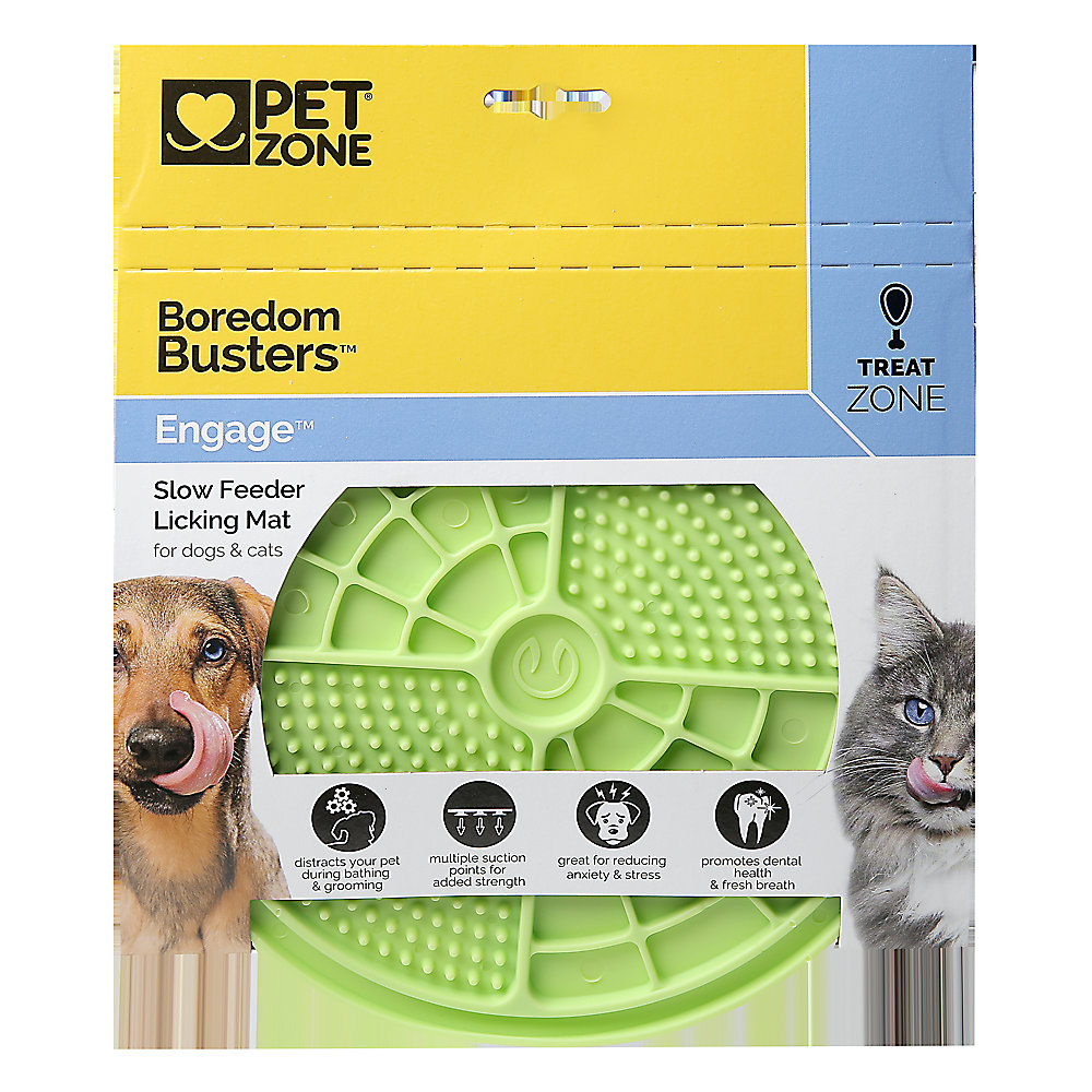 package of green slow feeder licking mat