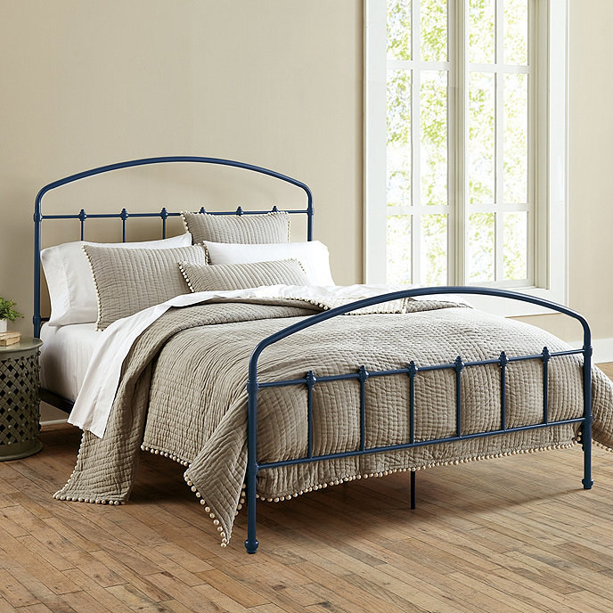 the navy bed frame