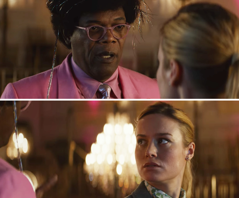 "Samuel L. Jackson and Brie Larson in ""Unicorn Store"""