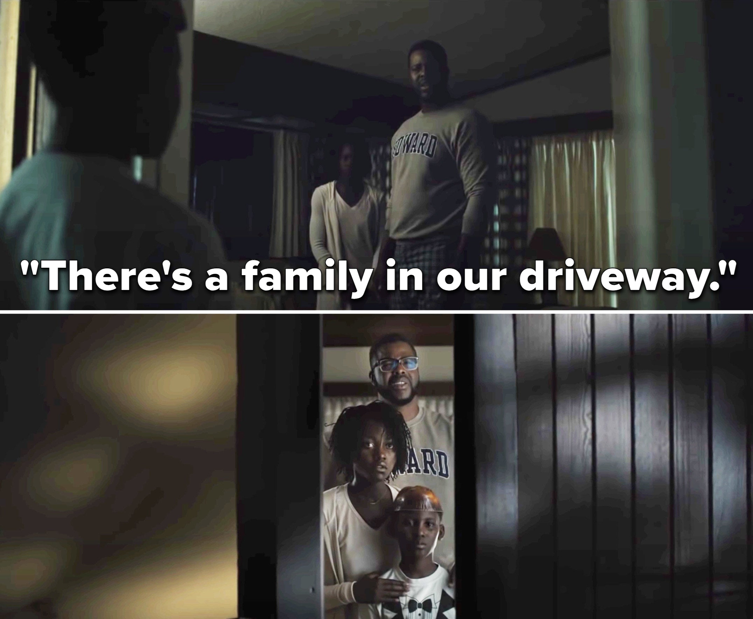 """Jason saying, """"There's a family in our driveway"""""""