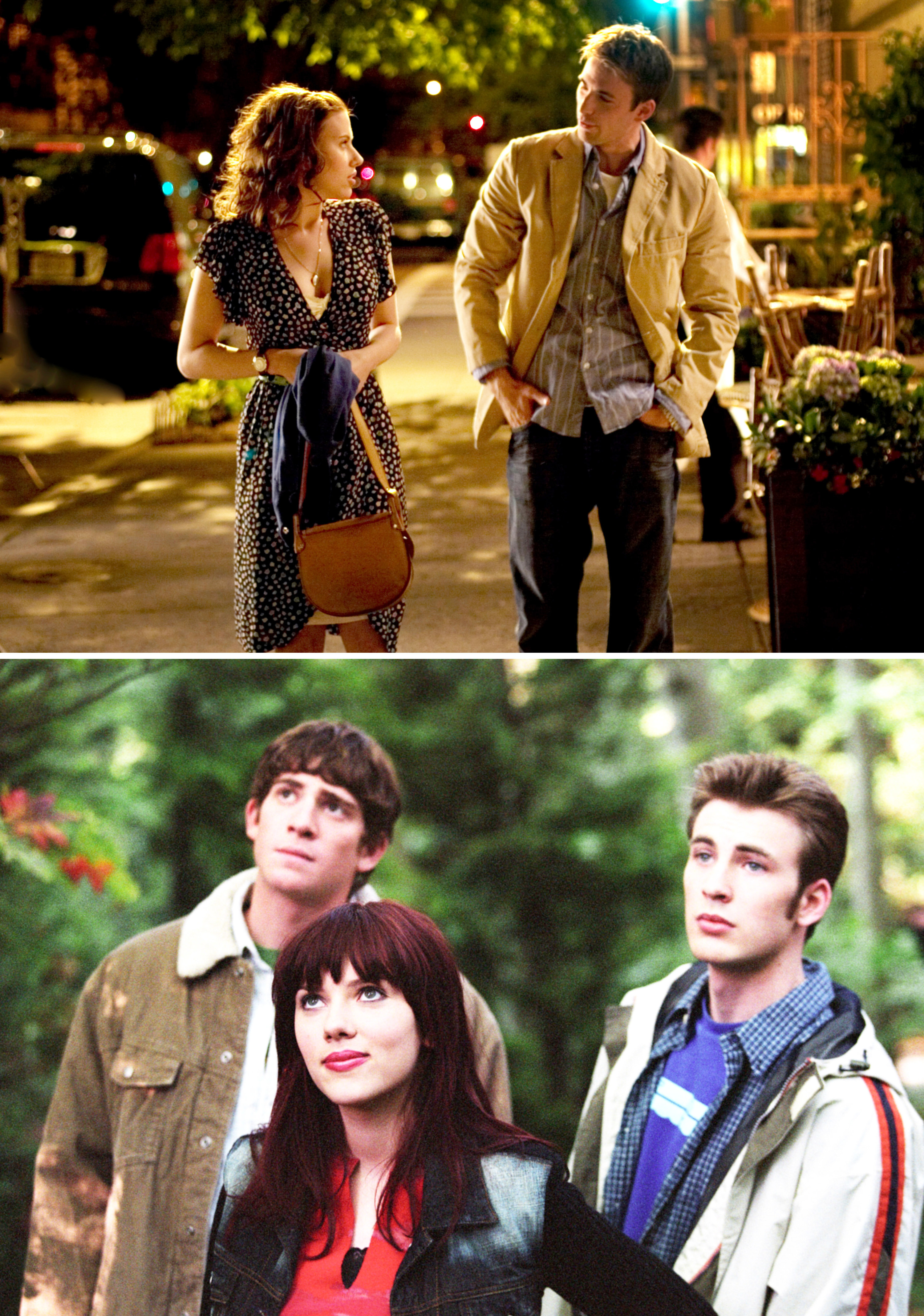 """Chris Evans and Scarlet Johansson in """"The Nanny Diaries"""" and """"The Perfect Date"""""""
