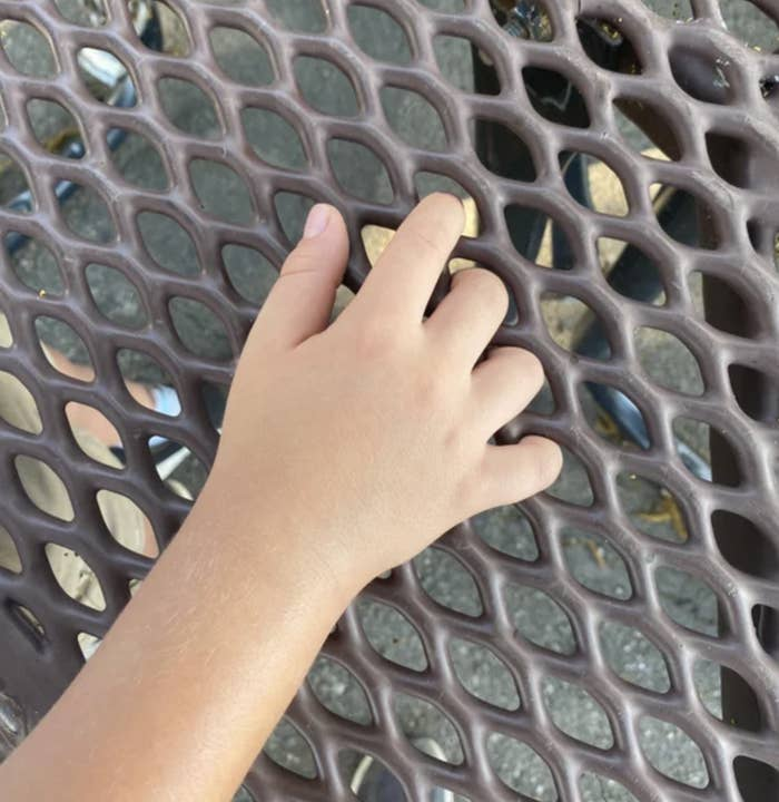 fingers stuck in a table